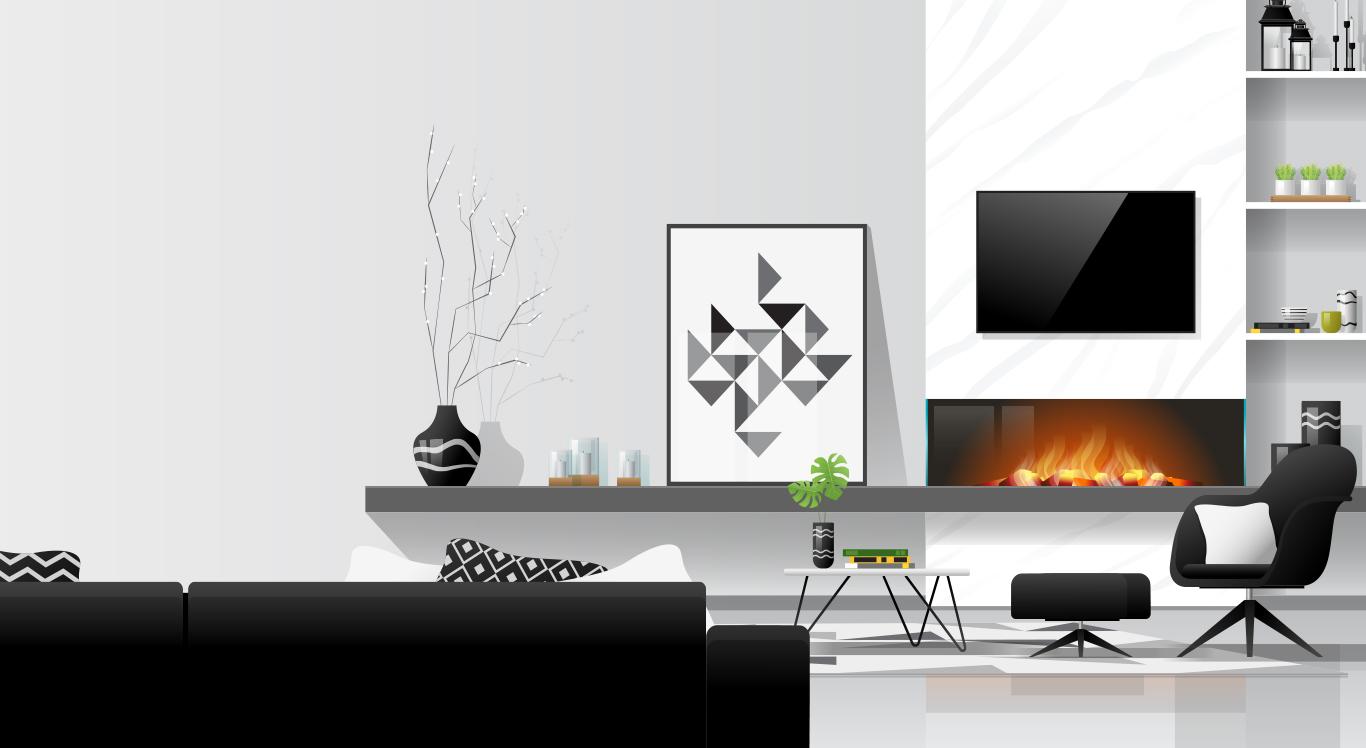 Gam màu xám trong thiết kế