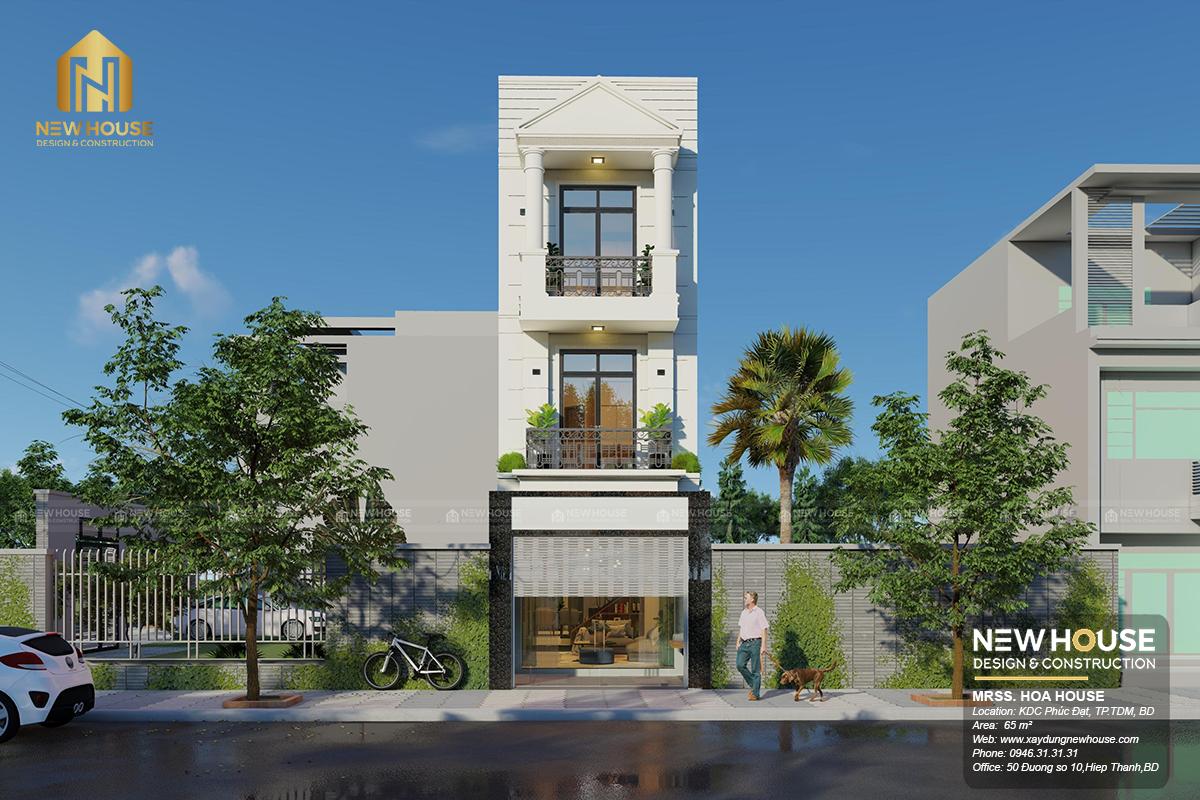 thiết kế nhà phố 4x11m